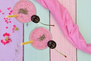 cherry chis smoothie for glowing skin