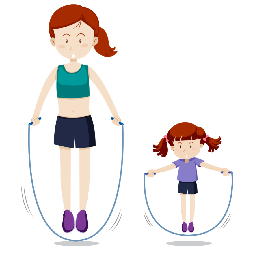alternatives to running - skipping the rope