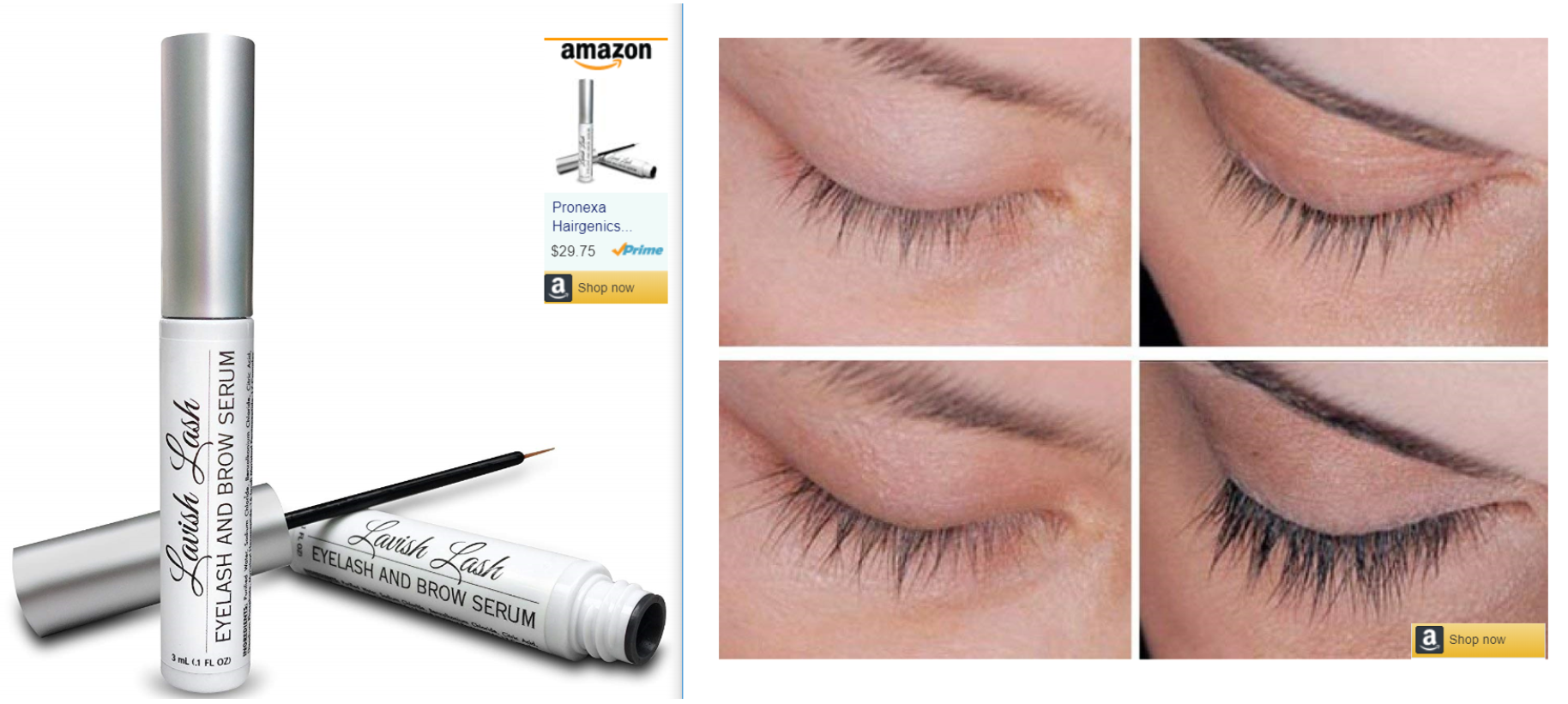 pronexa eyelash brow growth serum