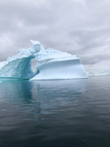 Two pieces of ice in Antarctica