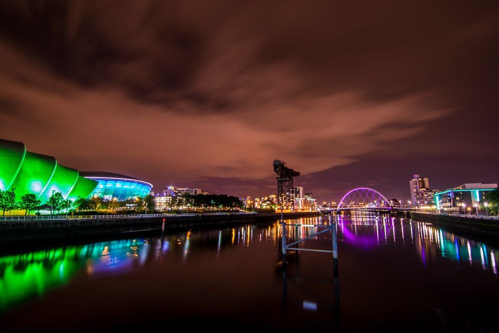Glasgow in the evening