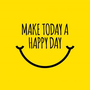 Make today happy day concept