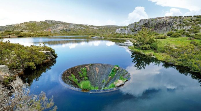 Conchos sinkhole in Portugal