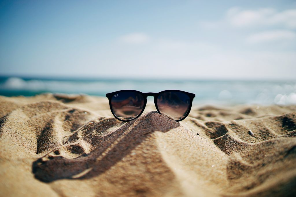 sunglasses on the sand