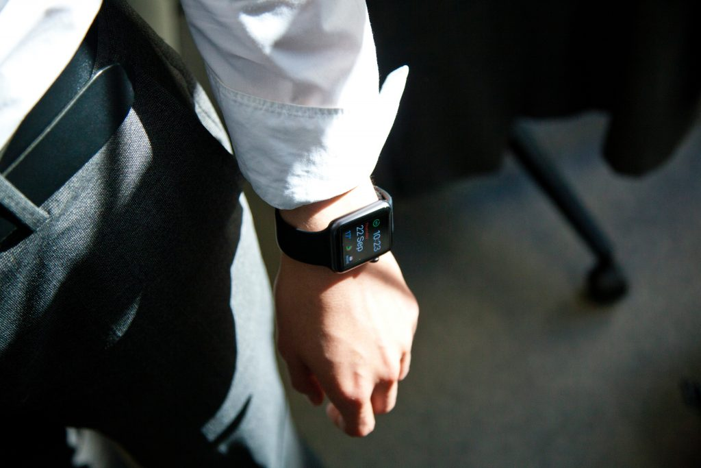 Male hand with smart watches
