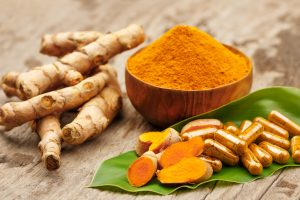 Turmeric reduces the severity of the joints inflammatory process and has analgesic properties