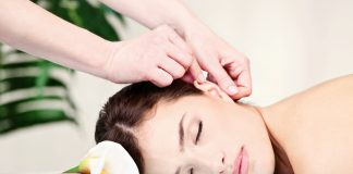 Ear massage helps to relax and boost your energy levels, ear points correspond to particular organs