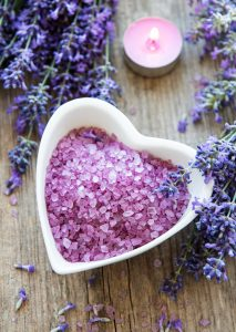 Lavender bath salts are great antiseptic remedies