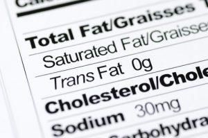 Labels on foods contain trans fats description