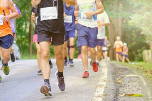 marathon as a charity event, gathering people to get more fit