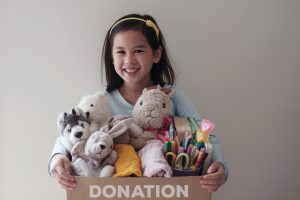 raising giving mindset in kids though donation