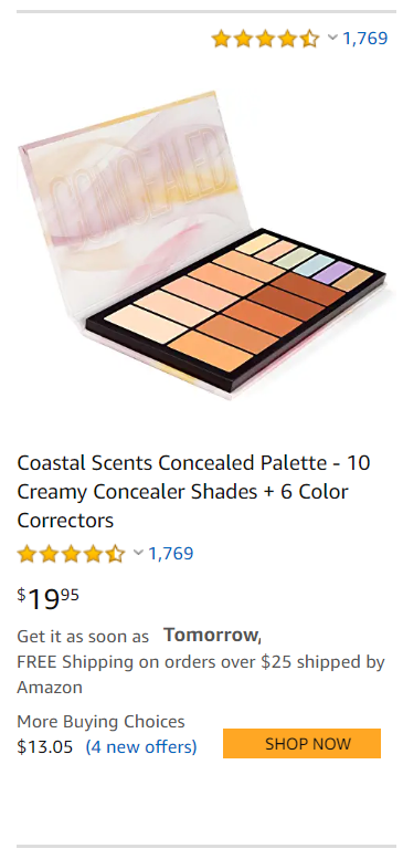 correct color pallete shades