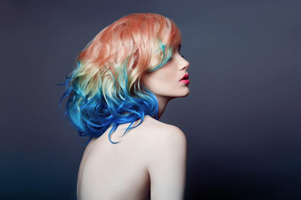 Dyeing hair in bright colors