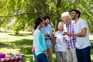 Social activities help keep up mental health socializing as a way to protect yourself from Alzheimer's