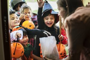 Make Halloween party for kids from orphan houses or in hospitals