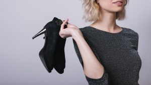 High heels cause feet deformation and joints tension